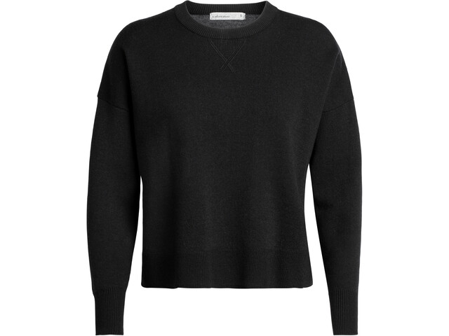 Icebreaker Carrigan Reversible Sweater Sweatshirt Dame Black